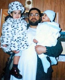 Shaker Aamer and two of his children.