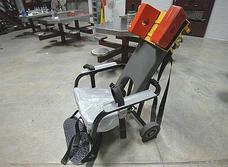 A restraint chair used at Guantánamo.