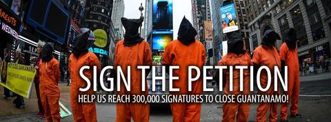 Sign the petition to close Guantánamo.