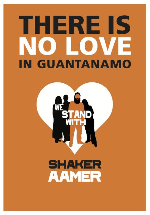 A Valentine's Day card for Shaker Aamer.