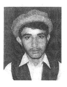 Obaidullah, photographed before his capture.