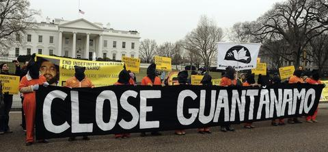 Protestors call for the closure of Guantánamo, January 11, 2011.
